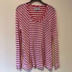 EUC Saturday/Sunday L/S Lightweight Stripe Shirt